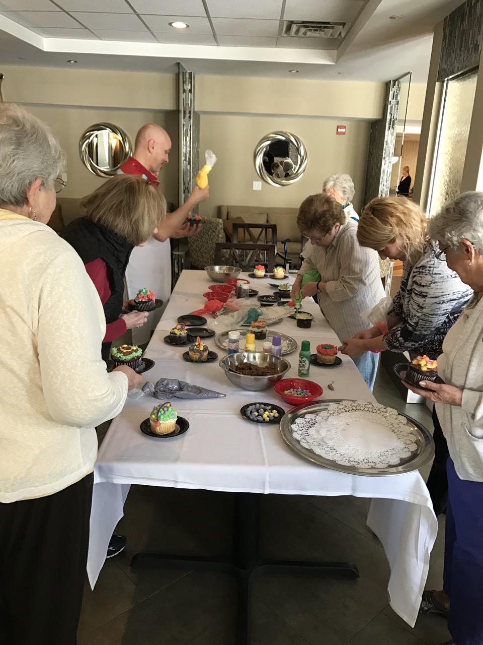 Cupcake Decorating Ideas For Seniors : Cupcake Decorating - Prestwick Chase at Saratoga - Senior ...