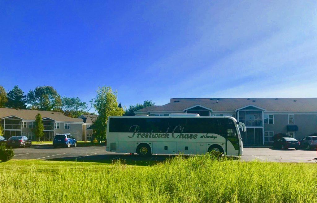 Prestwick chase Tour Bus