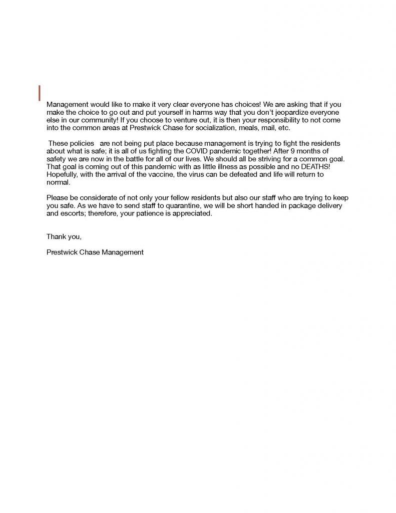 Prestwick COVID update, 12-15-20